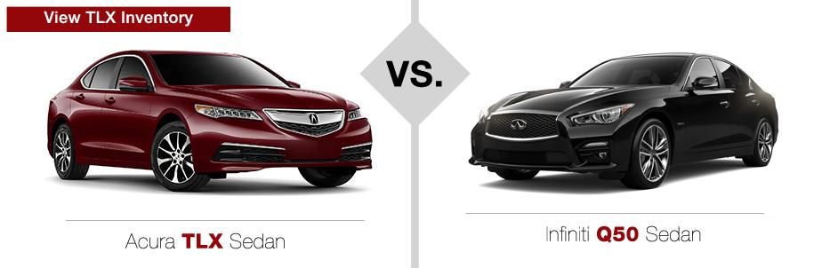 Acura TLX vs INFINITI Q50 Sedan