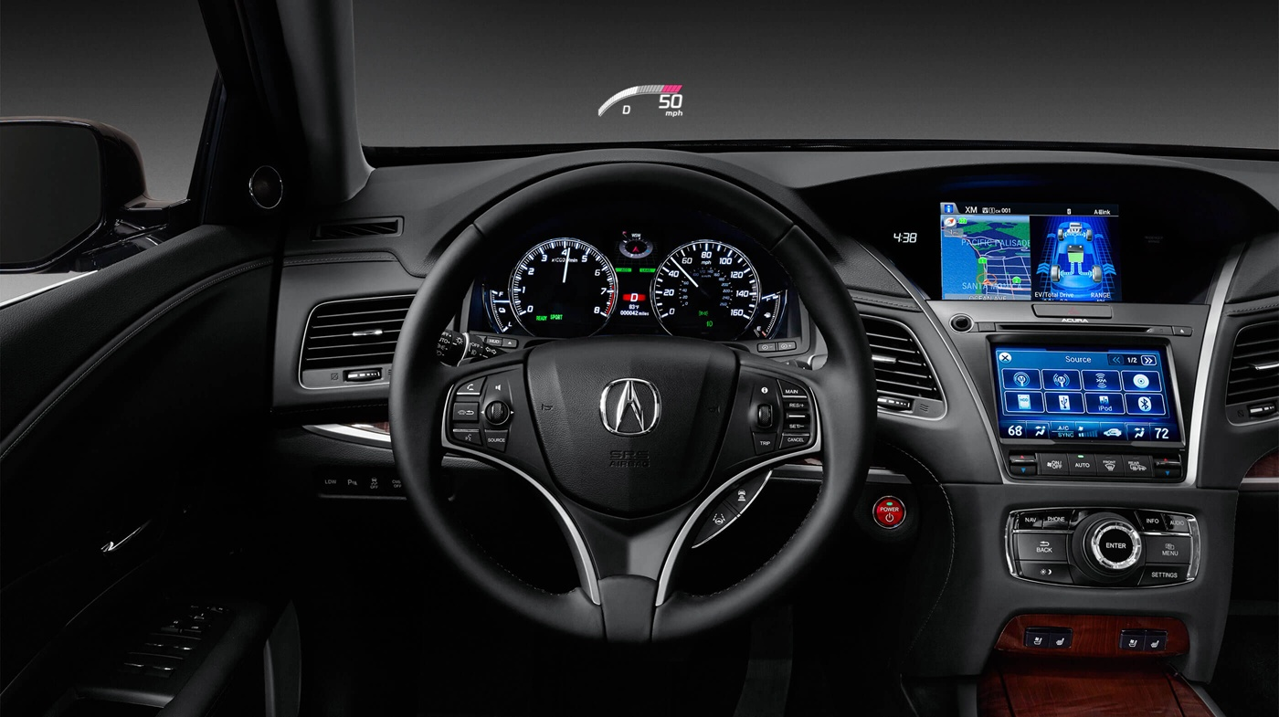 The Well-Equipped Dash of the 2017 RLX is Stylish!