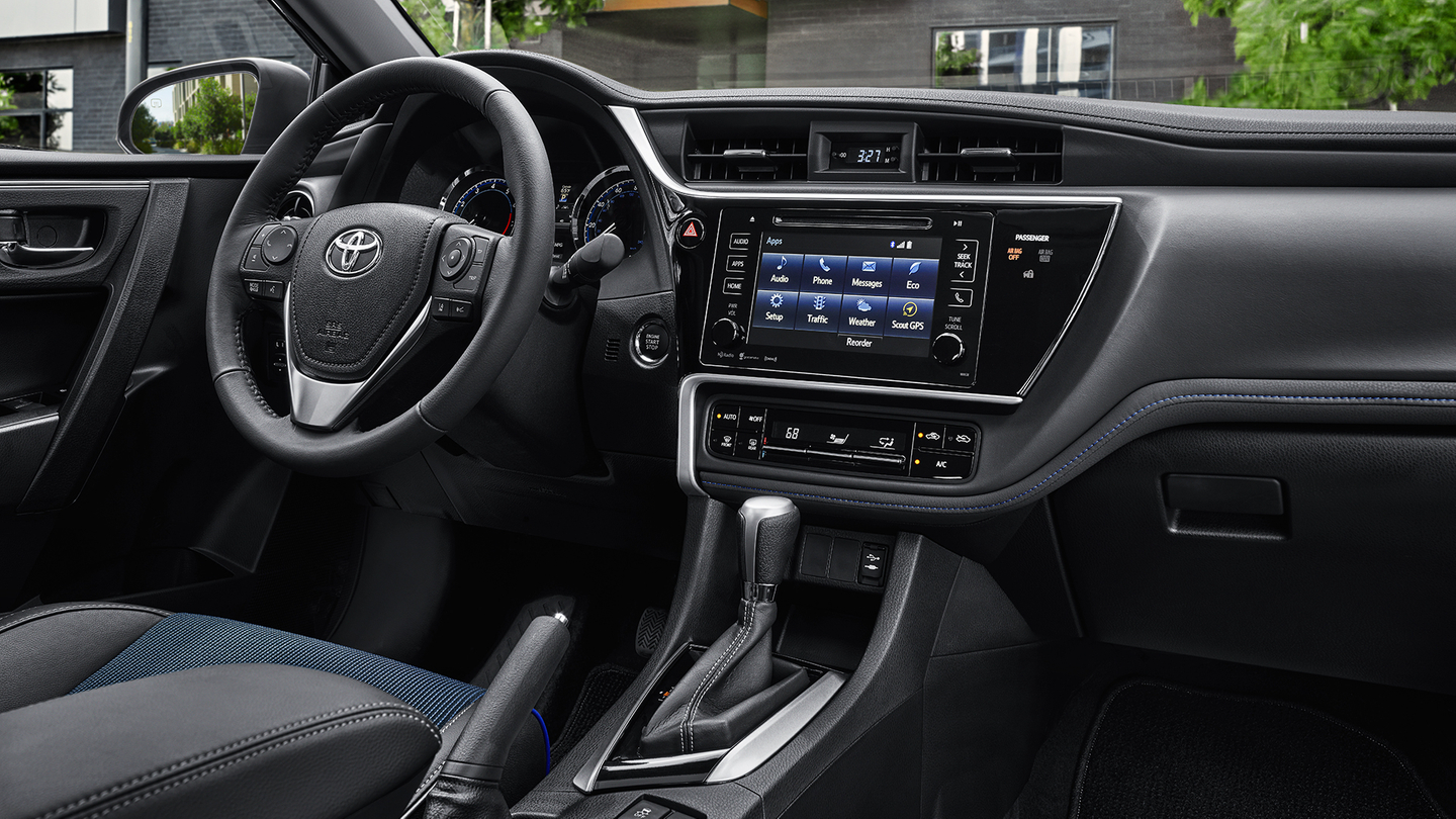 Interior of the 2017 Toyota Corolla