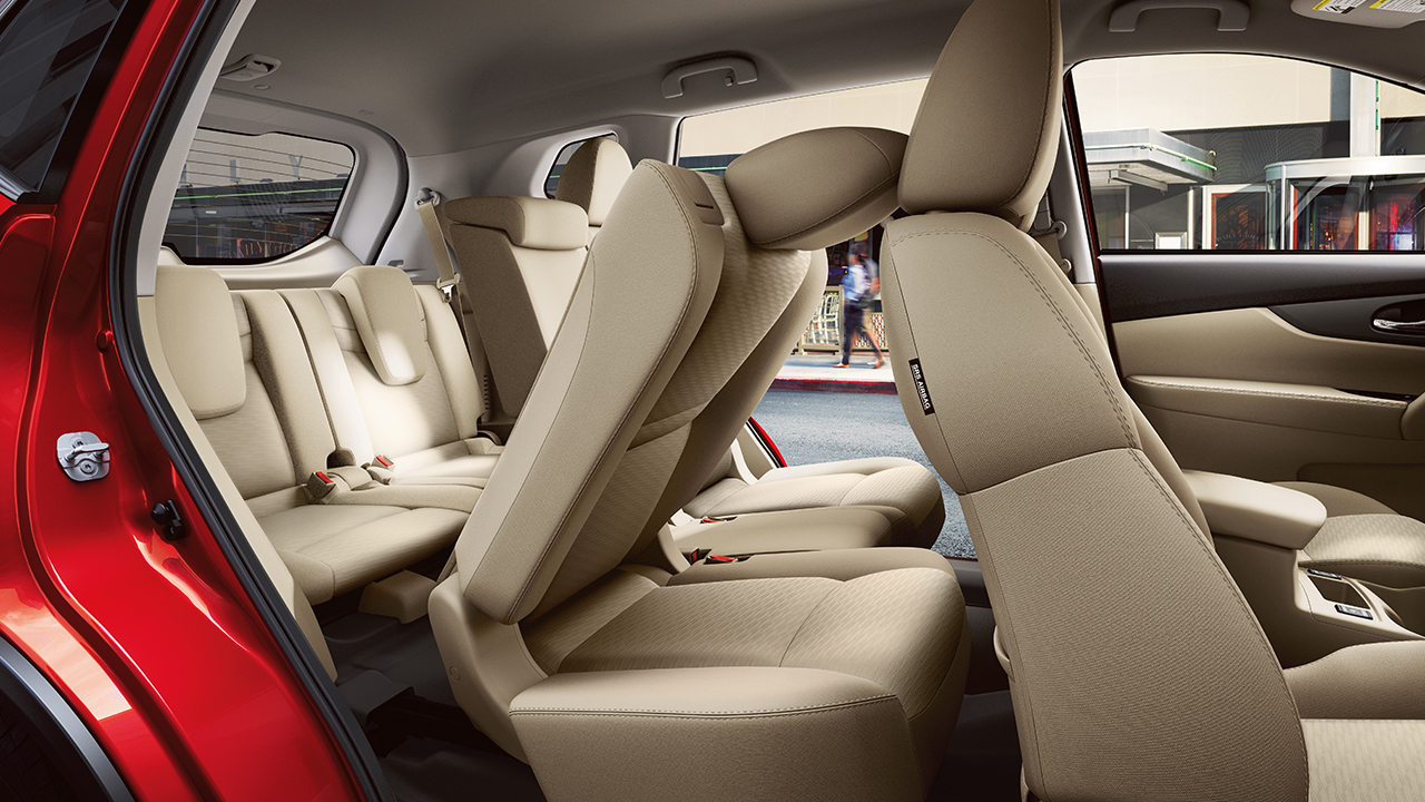 Nissan Rogue SL Interior with Almond Leather-trimmed Seats