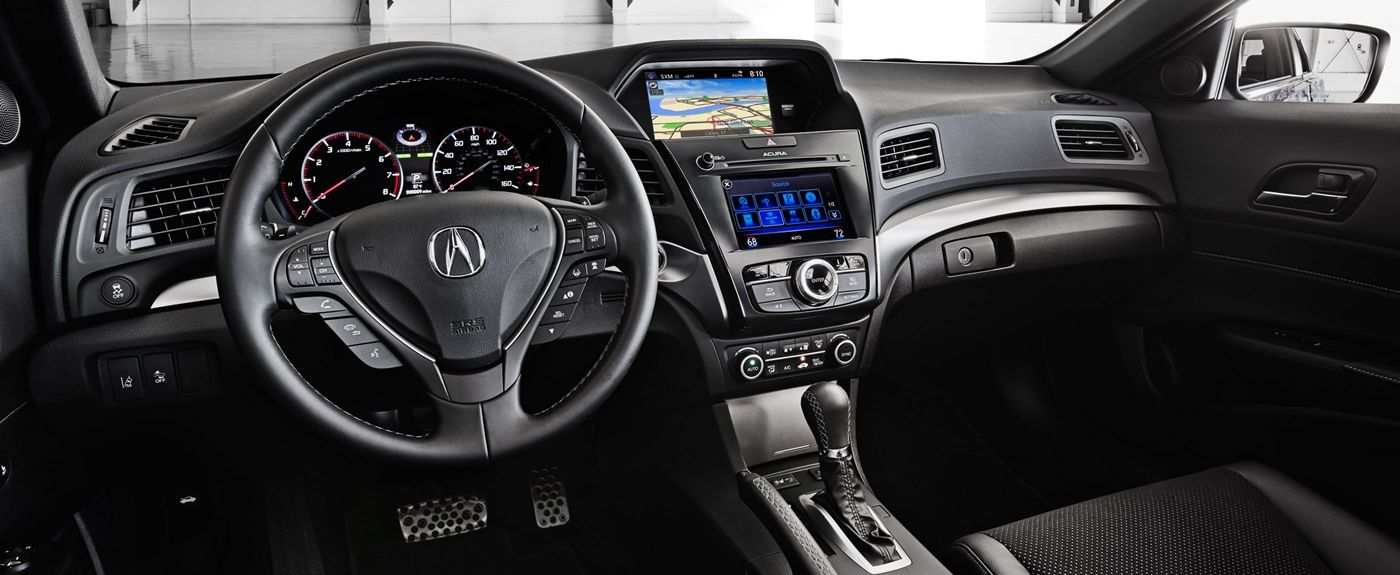 Luxurious cabin of the acura ilx