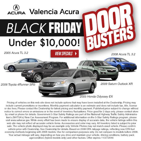 Black Friday Sales - Valencia Acura